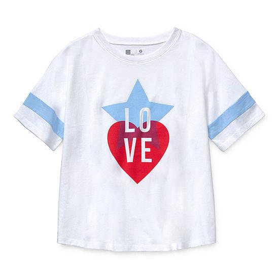 Xersion Little & Big Girls Plus Round Neck Short Sleeve Graphic T-Shirt