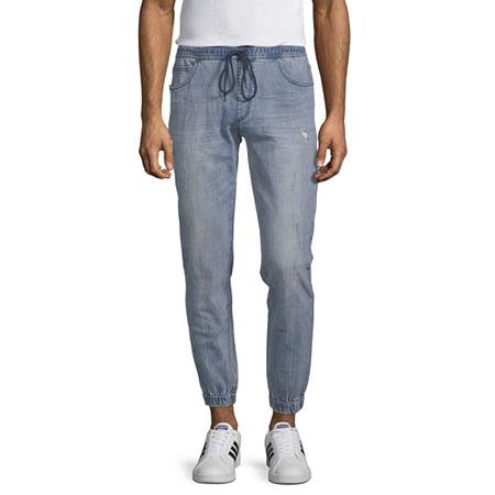 Arizona Advance Flex 360 Denim Mens Jogger Pants, Small , Blue