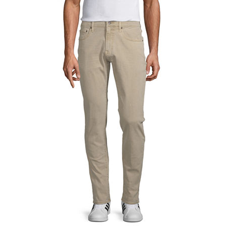 Arizona Advance Flex 360 Mens Slim Fit Jean, 30 32, Brown