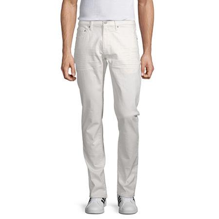 Arizona 360 Advance Flex Denim Mens Slim Fit Jean, 34 32, White