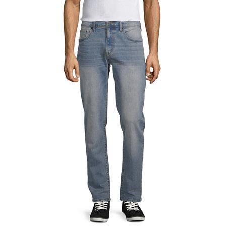 Arizona Advance Flex 360 Mens Straight Fit Jean, 36 34, Blue