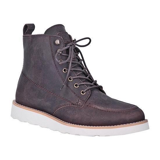 Dingo Mens Harpo Lace Up Boots Flat Heel