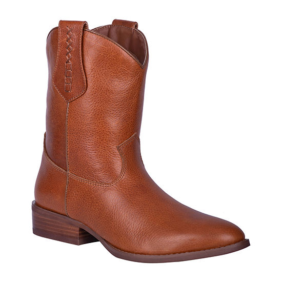 Dingo Mens Lefty Cowboy Boots Block Heel