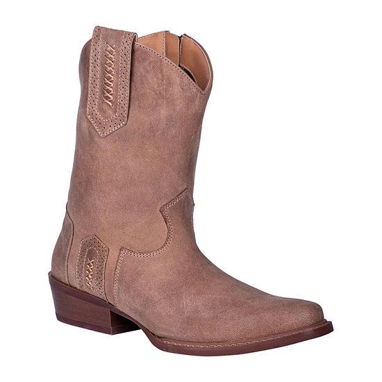 Dingo Mens Cassidy Cowboy Boots Block Heel