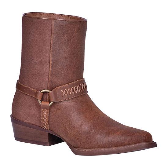 Dingo Mens Butch Cowboy Boots Block Heel