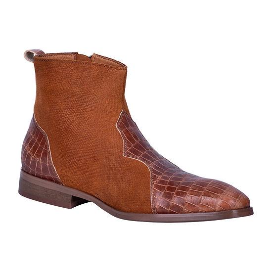 Dingo Mens Dunn Cowboy Boots Block Heel