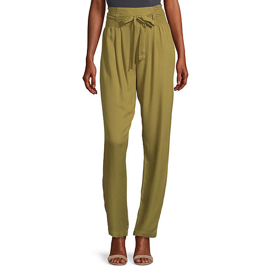 Society And Stitch Womens High Rise Straight Pull-On Pants - Juniors