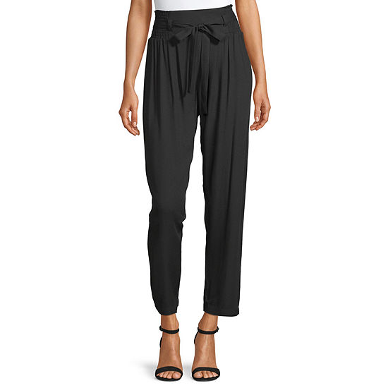 Society And Stitch-Juniors Womens High Rise Straight Pull-On Pants