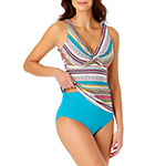 Liz Claiborne Striped Tankini Swimsuit Top or Swimsuit Bottom
