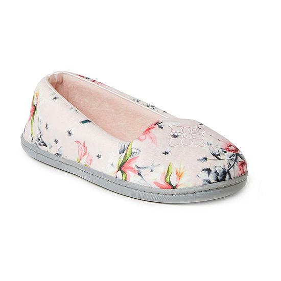 Dearfoams Womens Ballerina Slippers
