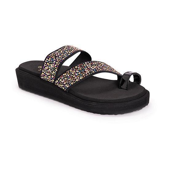 Muk Luks Womens Callie Heeled Sandals
