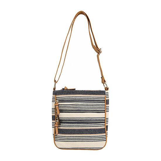 Bueno of California Triple Zip Crossbody Bag