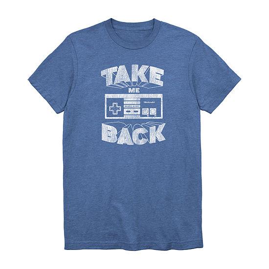 Nintendo Take Me Back Mens Crew Neck Short Sleeve Graphic T-Shirt