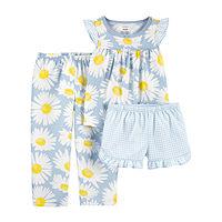 Deals on Carter's Toddler Girls 3-pc Pajama Set