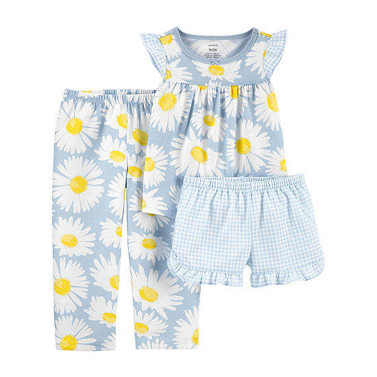 Carter's Toddler Girls 3-pc. Pajama Set