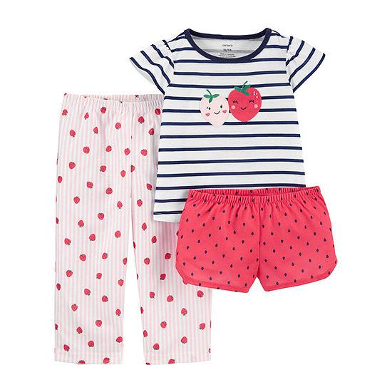 Carter's Toddler Girls 3-pc. Pajama Set