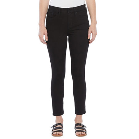 a.n.a Womens High Rise Skinny Ankle Fit Jean, 12 , Black