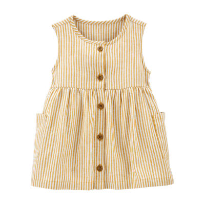 Carter's Toddler Girls Round Neck Sleeveless Blouse
