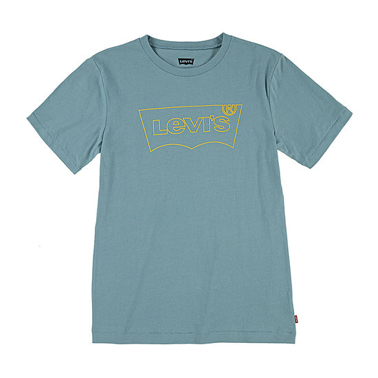 Levi's Big Boys Crew Neck Short Sleeve Graphic T-Shirt