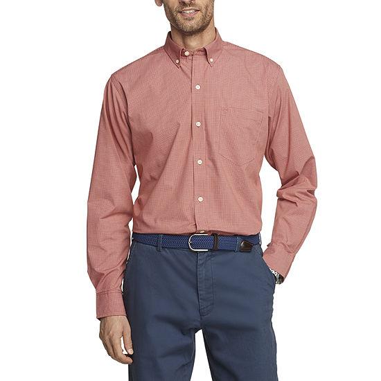 IZOD Big and Tall Mens Long Sleeve Button-Down Shirt
