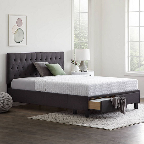 The Dream Collection by Lucid® Upholstered Storage Bed