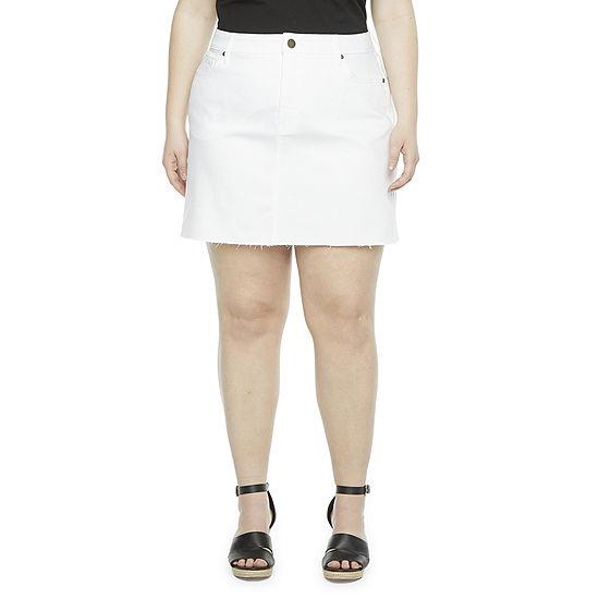 a.n.a-Plus Womens Denim Mini Skirt