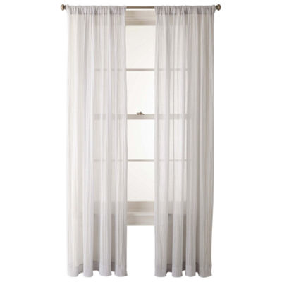 JCPenney Home™ Lara Rod-Pocket Sheer Panel
