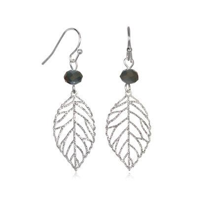 Mixit™ Silver-Tone Filigree Leaf Drop Earrings