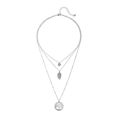 Mixit™ Silver-Tone Tree of Life 3-Strand Necklace