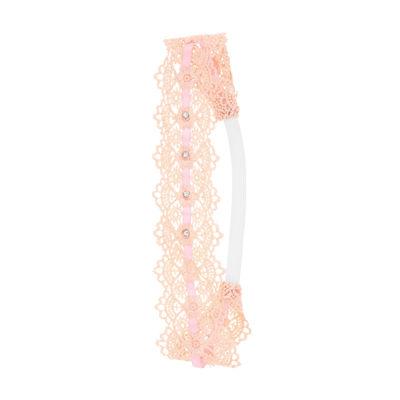 Capelli of New York Embellished Crochet Elastic Headwrap