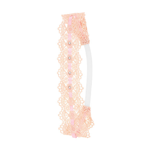Capelli of New York Embellished Crochet Elastic Headwrap