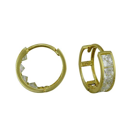 Petite Lux™ Cubic Zirconia Huggie Hoop Earrings
