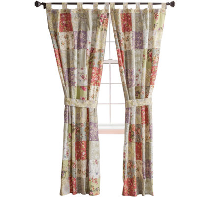 greenland home fashions blooming prairie 2pack tabtop cotton curtain panels jcpenney