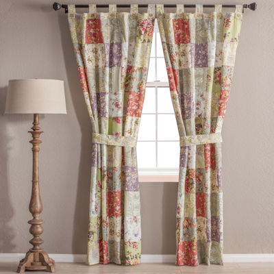 Greenland Home Fashions Tab-Top Set of 2 Curtain Panel