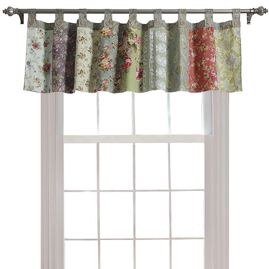 Greenland Home Fashions Blooming Prairie Tab-Top Window Valance