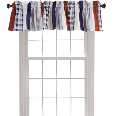 Greenland Home Fashions Nautical Stripe Quilted Rod-Pocket Valance