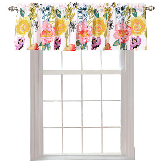 Greenland Home Fashions Watercolor Dream Rod-Pocket Valance