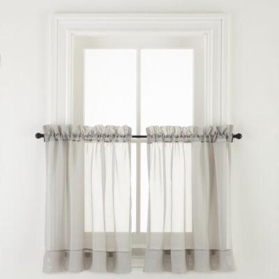 Liz Claiborne® Lisette Rod-Pocket Sheer Window Tiers