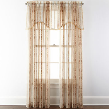 jcpenney.com | Home Expressions™ Regan Rod-Pocket Sheer Window Treatments