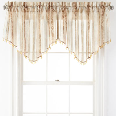 Home Expressions™ Regan Rod-Pocket Sheer Ascot Valance