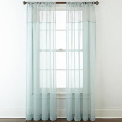 Liz Claiborne® Lisette Macramé Sheer Tab-Top Curtain Panel - JCPenney
