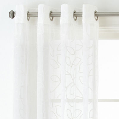 JCPenneyHome™ Serene Sheer Grommet-Top Sheer Curtain Panel