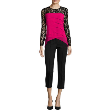 jcpenney.com | nicole by Nicole Miller® Tiered Lace Blouse or Pintuck Ankle Pants