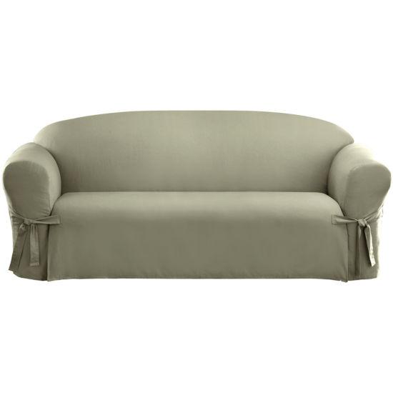 Sure Fit Cotton Duck 1 Pc Sofa Slipcover