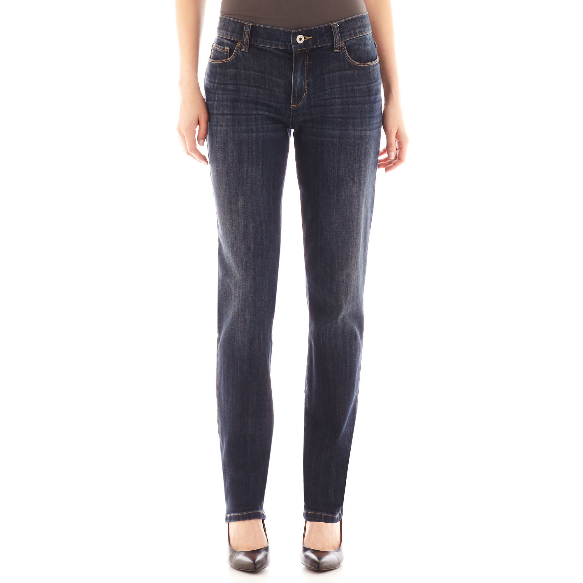 Liz Claiborne City-Fit Boyfriend Skinny Jeans - Tall
