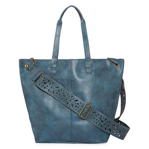 T-Shirt & Jeans Laser Cut Strap Tote Bag