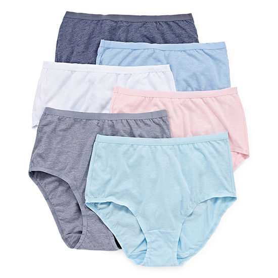 a79ab636a9857 Fruit Of The Loom 6 pack Ultra Soft Brief Panties JCPenney