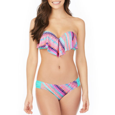 jcpenney.com | Arizona Stripe Flounce Swimsuit Top or Hipster Bottom-Juniors