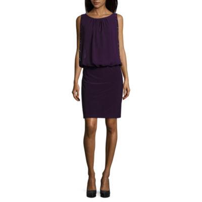 Scarlett Sleeveless Beaded Blouson Dress-Talls