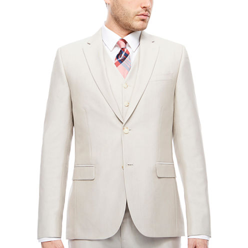 J.Ferrar Bone Shimmer Jacket-Slim Fit